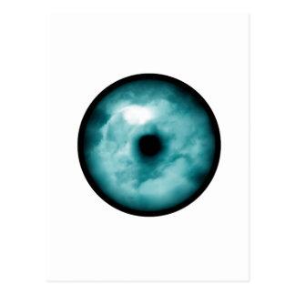 Blue Green eye cloud graphic aqua Postcards