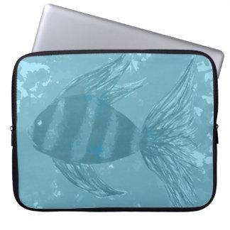 Blue Green Fish Laptop Sleeve