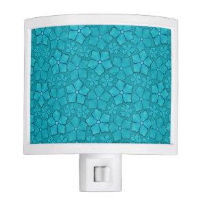 Blue green floral design night light