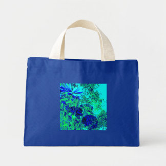 Blue Green Floral Experience Tote Bag