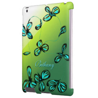 Blue Green Floral iPad Case *customize*