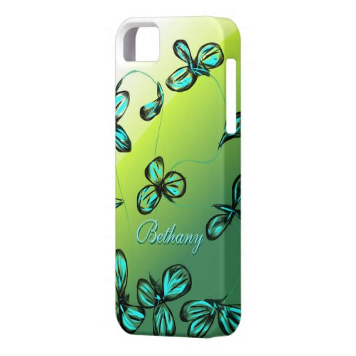 Blue green floral iphone 5 5s case customize zazzle for How to customize your iphone case