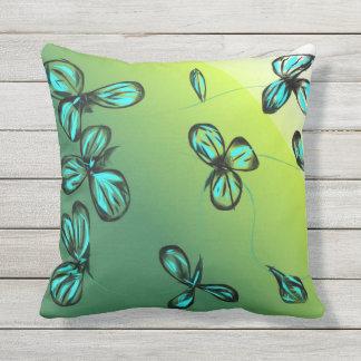 Blue Green Outdoor Pillows & Cushions Zazzle