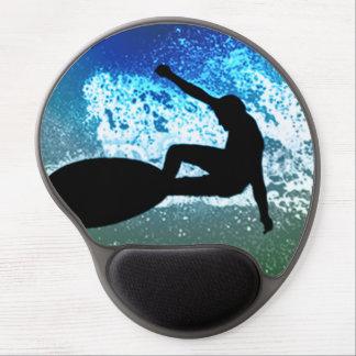 Blue & Green Foam Surfing Gel Mouse Pad
