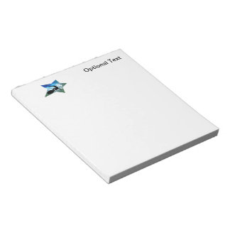 Blue & Green Foam Surfing Star Notepad