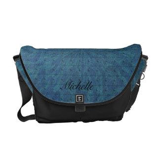 Blue Green Foil Abstract Messenger Bag