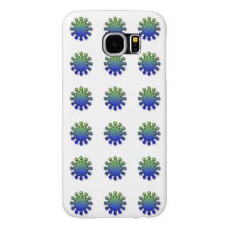 Blue Green Fun Flakes Samsung Galaxy S6 Case