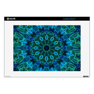 "Blue Green Gems kaleidoscope 15"" Laptop Skin"