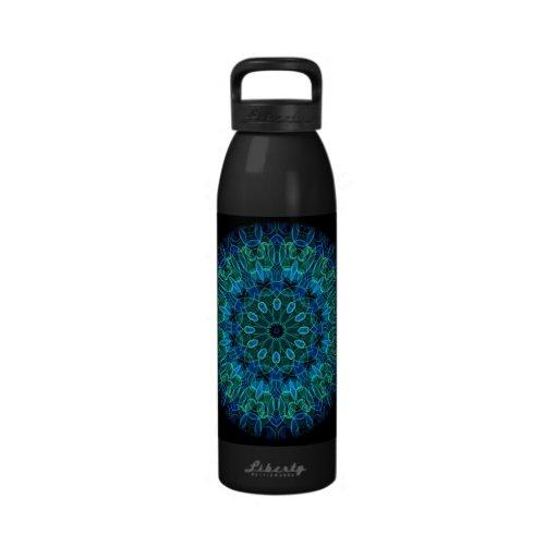 Blue Green Gems kaleidoscope Drinking Bottles