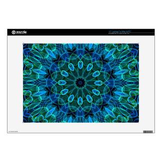 """Blue Green Gems kaleidoscope 15"""" Laptop Decal"""