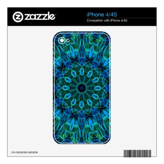 Blue Green Gems kaleidoscope Skin For The iPhone 4