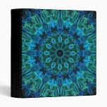 Blue Green Gems kaleidoscope Vinyl Binders