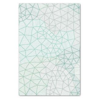 "Blue Green Geometric Print Tissue Paper 10"" X 15"" Tissue Paper"