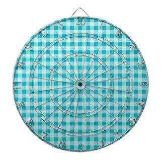 Blue-Green Gingham Dartboard
