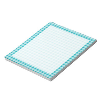 Blue-Green Gingham Note Pad