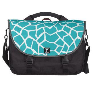 Blue-Green Giraffe Animal Print Bag For Laptop
