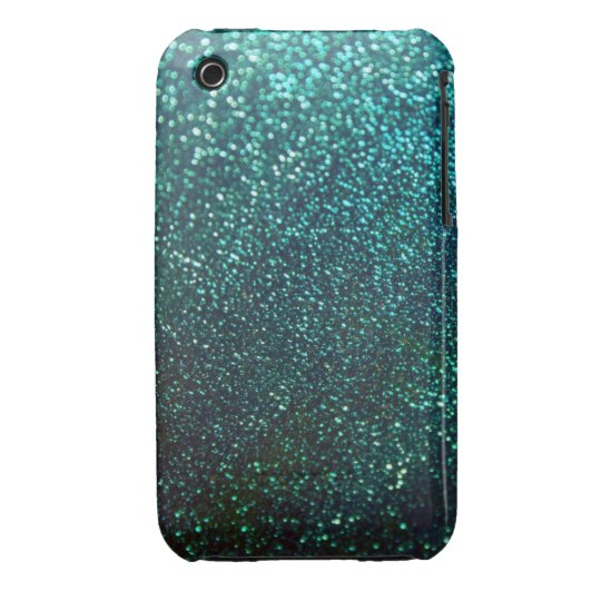 Blue/Green Glitter iPhone 3 Cover