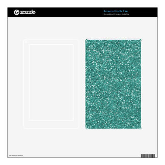 Blue Green Glitter Skin For Kindle Fire