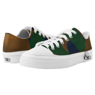 Blue Green & Gold Boomrocket Zipz Low Top Sneakers