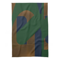 Blue Green Gold Kitchen Towel