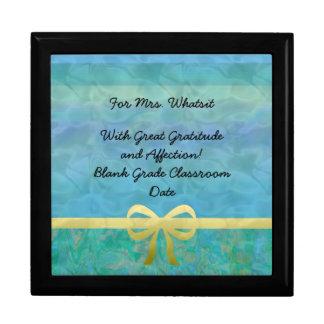 Blue Green Gold Ribbon Giftwrap Gift Box