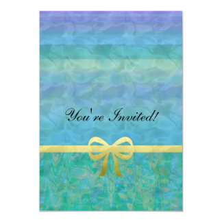 Blue Green Gold Ribbon Giftwrap Announcement