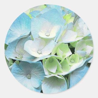Blue Green Hydrangea Floral Stickers Seals