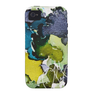 Blue Green Ink Vibe iPhone 4 Covers