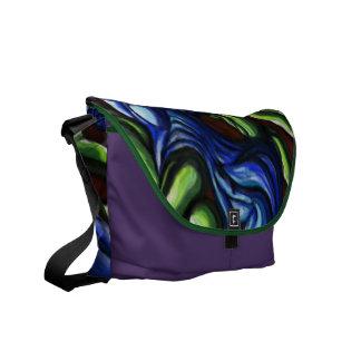 """""""Blue green interaction"""" a designer messenger bag"""