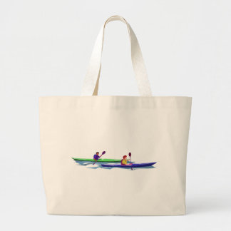 Blue/Green Kayak Tote Bag