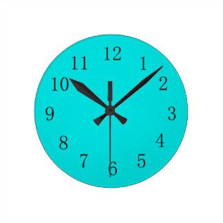 Blue Green Kitchen Wall Clock