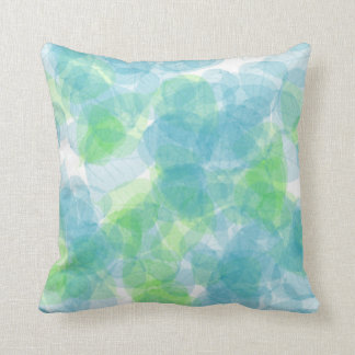 Blue-Green Leaf American MoJo Pillows