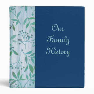 Blue Green Leaf Our Family History Binder