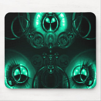 Blue Green Lens Flare Mouse Pad