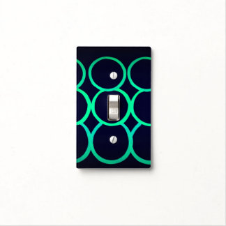 BLUE GREEN LIGHT BUBBLES TOGGLE SWITCH SWITCH PLATE COVER