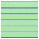 [ Thumbnail: Blue & Green Lines Fabric ]