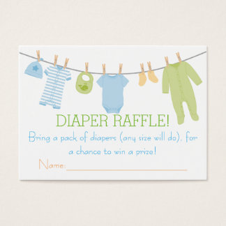Blue & Green Little Clothes Diaper Raffle Tickets