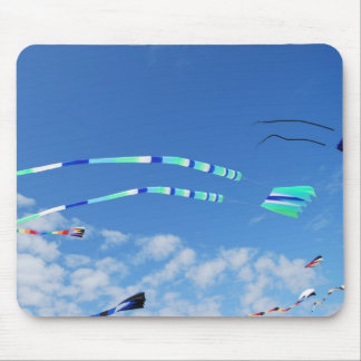 Blue Green Long Tail Kite Mouse Pad