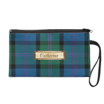 Blue & Green MacThomas Clan Tartan Plaid Wristlet Purse