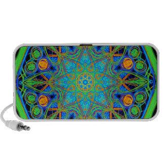 Blue Green Mandala iPod Speaker