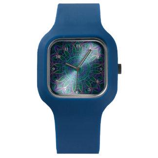Blue Green Mandala Watch