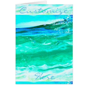 Beach Themed blue/green maui wave pattern Thunder_Cove Card