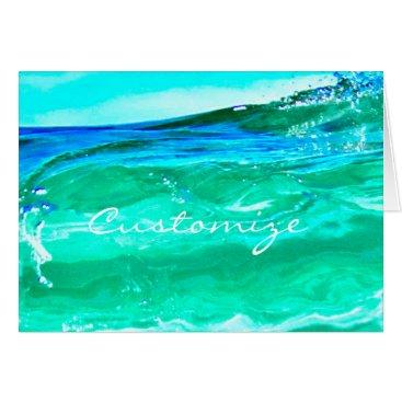 Beach Themed blue/green maui wave Thunder_Cove Card