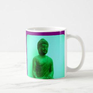 Blue-Green Meditating Buddha MUG BY SHARLES