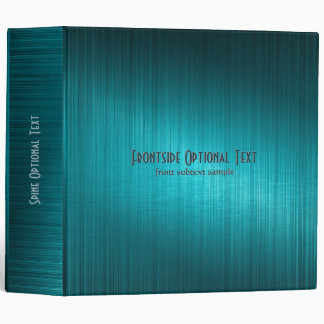 Blue-Green Metallic Look Pattern Binder Customized