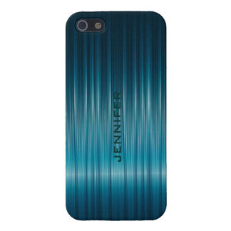 Blue-Green Metallic Shinny Carbon Fiber Texture Cover For iPhone 5