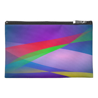 Blue Green Minimalism Abstract Art Travel Accessories Bags