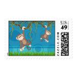 Blue & Green Monkey Fun Stamp