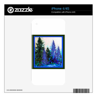 BLUE-GREEN MOUNTAIN FOREST LANDSCAPE SKIN FOR THE iPhone 4S