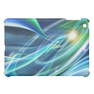 Blue Green Neon Lights Hi Tech  Cover For The iPad Mini